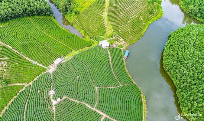 Chùm ảnh được thực hiện bằng góc chụp flycam. Ảnh: Nguyễn Thanh Hải